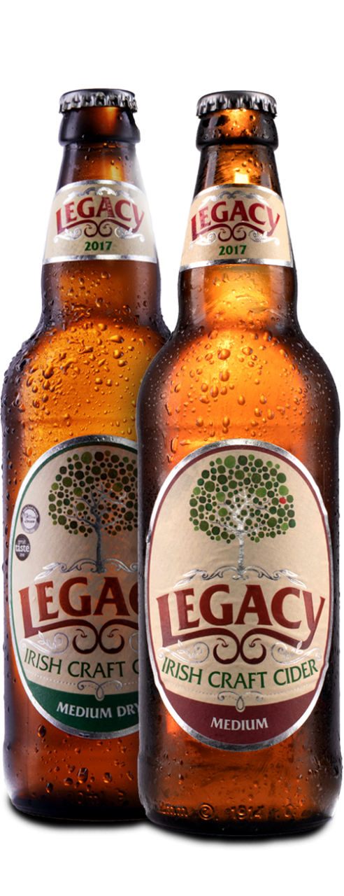 Bottles of legacy irish cider